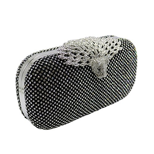 Crystal DMIX Evening and Bag Black Women Clutch Evening Sfqf4ypTw