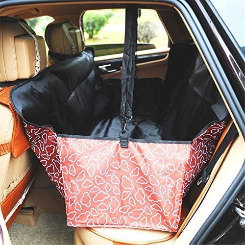 車用ペットシート 旅のシートプロテクターペット車後部座席のシート折り畳み式のカーシートカバーソフトペット旅行カー車用プロテクターキャリアバッグ カー用品 (Color : Blue)