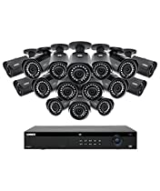 Lorex 16 Channel 4K 4MP IP Security System with NR9163 NVR and 16 4MP LNB4421B Bullet Cameras 4MP IP Cameras, Color Night Vision LN10804-1616W