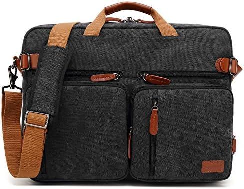 CoolBELL maletin Hombre portatil Convertible en Mochila para Guardar Ordenadores portátiles Maletín de Negocios Mochila de Viaje para Guardar ...