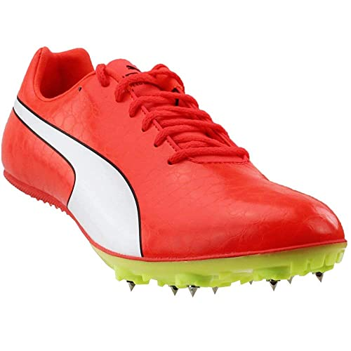 2f0473a90193 PUMA Evospeed Sprint 8 Mens Red Leather Athletic Lace Up Running Shoes 11