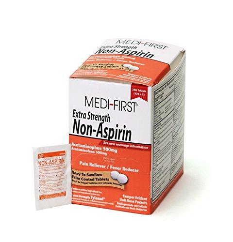 Medi-First 80448 Extra Strength Non-Aspirin Acetaminophen 125-Packets of 2