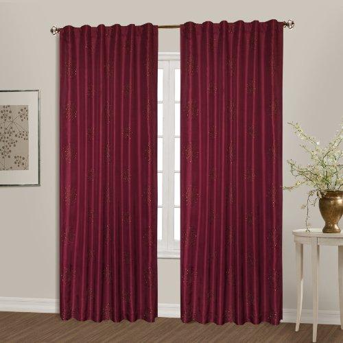 United Curtain Starburst Window Curtain Panel, 54 by 63-Inch, Burgundy (Window Starburst)