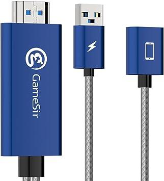 GameSir GTV100 iOS-a-HDMI Cable de Adaptador de Pantalla 1080P, Displayport Cable de Conversor Convertidor de 3 Pies Conectar y Jugar para Juegos Móviles para iOS: Amazon.es: Electrónica