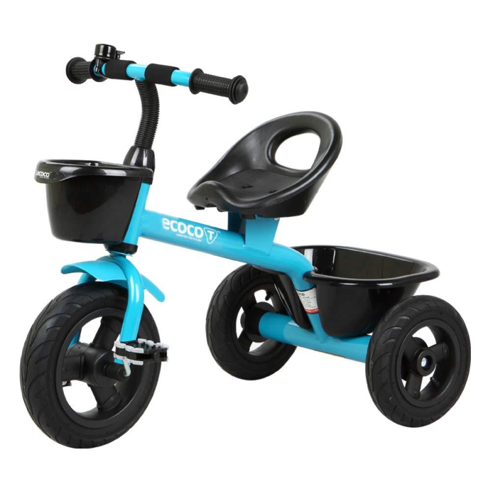 ahorra hasta un 30-50% de descuento D GIFT Bicicleta De Pedal para para para Niños Triciclo Cochecito De Bebé para Niños Primera Bicicleta con Dos Cestas De Almacenamiento, Ruedas De Goma No Inflables, con Campanas 2-5 Años Regalo De Año, D  costo real