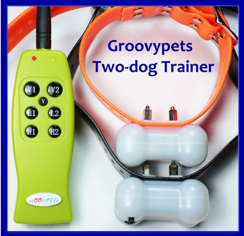 New Gen Groovypets Rechargeable Remote Control Training Shock Collar with Separate Shock and Vibration Corrections for 2 Small,Medium, and Large Dogs-ONLY from Groovypets!, My Pet Supplies