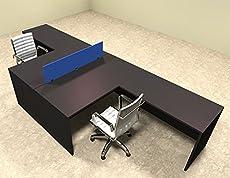 Two Person Blue Divider Office Workstation Desk By Utm Computerdeskz