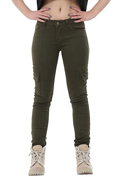 wholesale sales how to choose sale New Ladies Womens Green Black Slim Stretchy Combat Pants ...