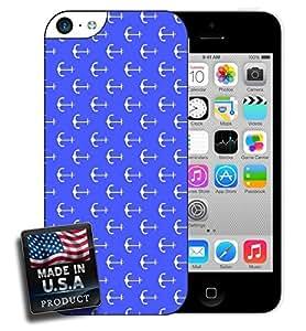 Blue Anchor Nautical Pattern Print iPhone 5c Hard Case