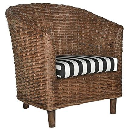 Etonnant Safavieh Home Collection Omni Rattan Barrel Chair, Standard
