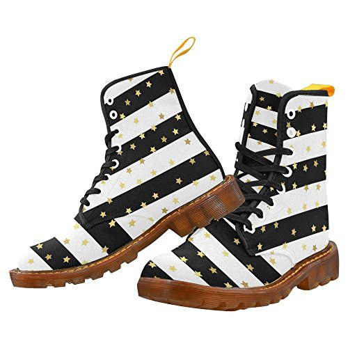 Martin Glittering Fashion Gold Stars Shoes InterestPrint Men Boots camo For aOqxZ48H5w