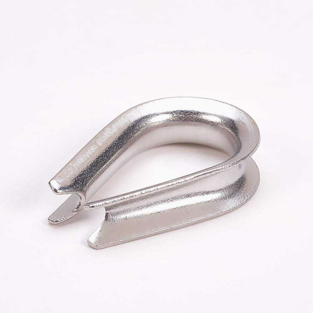 M3//M4//M5//M6//M10 Stainless Steel Wire Rope Cable Thimbles Silver Tone