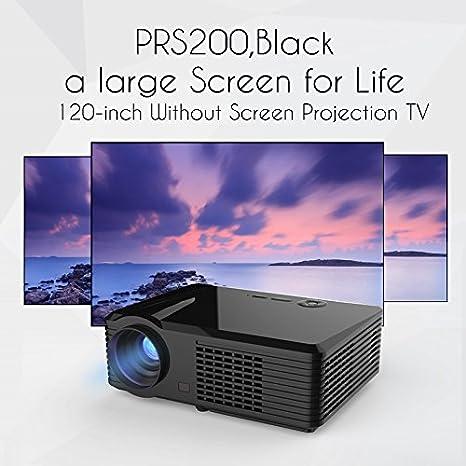 VIVIBRIGHT S200 - Proyector Full HD 1080P y Pantalla de 280 Pulgadas (3800 Lux, portátil, Compatible con TV Stick, PS4, AV y USB): Amazon.es: Informática