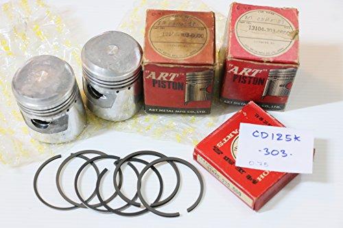 Genuine Honda Twin CD125 CB125 SS125 CL125 K1-K5 Piston + Ring Set Size 0.75 - Honda Piston Nos