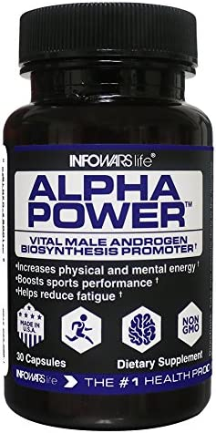 Infowars Life – Alpha Power 30 Capsules Vital Male Androgen Biosynthesis Promoter