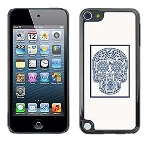 "For Apple iPod Touch 5 Case , Marble Tile Cráneo indio Patrón de arte"" - Diseño Patrón Teléfono Caso Cubierta Case Bumper Duro Protección Case Cover Funda"