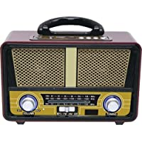 QFX Retro 90 Retri 90 Bluetooth Speaker with Am/FM Radio