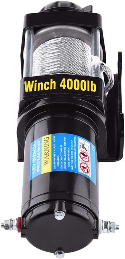 DishyKooker 4000lbs Electric Recovery Winch Kit for A-TV Trailer Truck with Wireless Remote Control