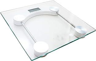Balança Digital de Banheiro 180 KG Vidro Temperado Residencial, Academia ou Clinica