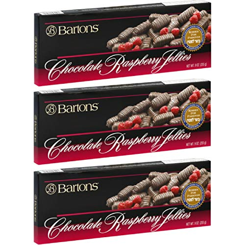 - Barton's Kosher For Passover Chocolate Raspberry Jellies, 9 Oz Box (Pack of 3, Total of 27 oz)