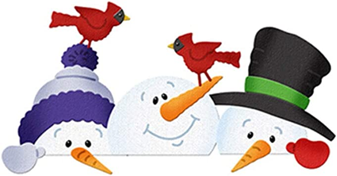 Christmas Snowman Metal Cutting Dies Stencils DIY Scrapbooking Embossing Cards