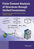 Finite Element Analysis of Structures by Unified Formulation, Carrera, 1119941210