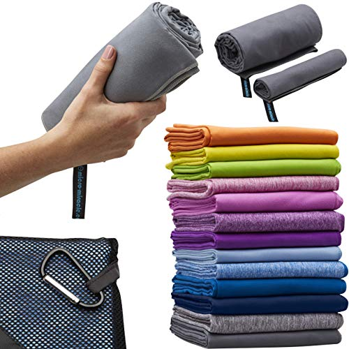 XL – 2in1 Microfiber Travel Towel, 13 Colors, Quick Dry, 60 x 30 in, Ultra Soft, Lightweight for Travel, Backpacking…