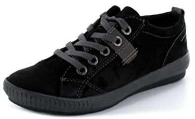 marco tozzi chaussures basses femme baskets en noir avec semelle intrieure amovible noir noir