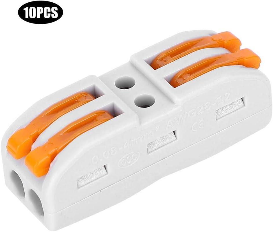 borne de c/âblage Jarchii Connecteur de borne Accessoires /électriques sans Soudure Connexion Rapide Universelle pour Les projets de c/âblage Domestique 28-14Awg