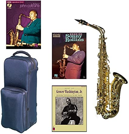 Lápiz óptico Virtuoso serie profesional saxofón Alto Laca transparente Deluxe w/3 pack de leyendas libros: La Mejor de John Coltrane, Sonny Collins & Grover Washington Jr.: Amazon.es: Instrumentos musicales