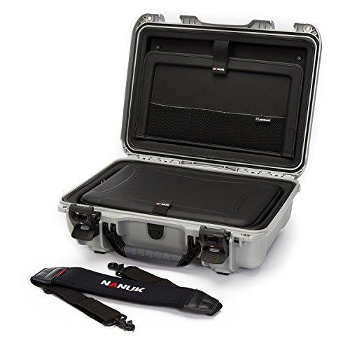 Nanuk 923 Waterproof Hard Case with Laptop Insert Kit - Silv