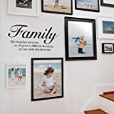 Family Like Branches On A Tree - Quote Lettering Decal Wall Decal - Black
