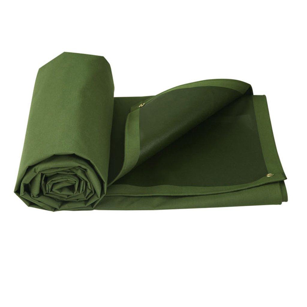 Green 65M Awnings Tarpaulin Tarpaulin Outdoor Sunscreen Thick Cloth Tarpaulin ScratchResistant Sunscreen Truck car Polyester Thick Cloth Tarpaulin (color   Green, Size   6  5M)