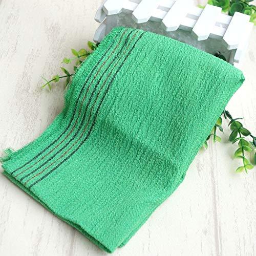 (Vivona 2018 hot sell 5pcs/lot italy korea exfoliating shower towel body scrub cloth magic peeling towel long back wash cloth towel - (Color: Green))