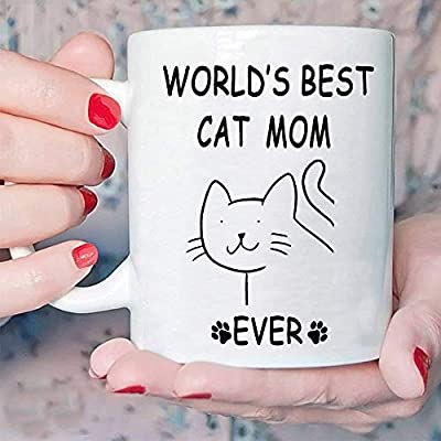 Cat Fan related Products Funny Gifts Cat Coffee Mug for Mom – World's Best... [tag]