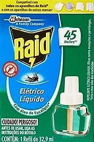 Raid Repelente Elétrico Líquido Eucalipto Refil 45 noites com 32.9ml