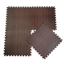 XDOBO Luxurious Interlocking Foam Anti Fatigue 12'' X 12'' Flooring Tiles, Pack of 10 - Approx 10 Sq.ft