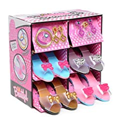 The jewelry costume boutique is a portable carrying case that will put a smile on your beautiful girl on her special day. The box is lightweight and it's designed with pink color and stars that makes it very feminine. The beautiful box is cra...