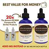 Liquid MSM Drops with Vitamin C - 8 Ounces - Made