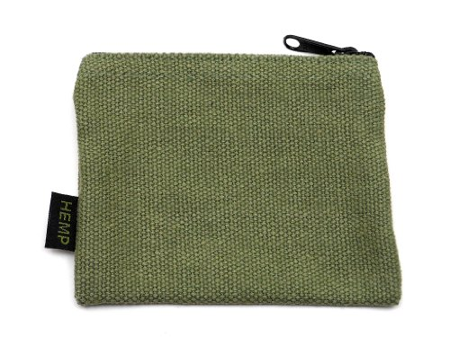 Hempmania Hemp Coin Purse – Sage – One Size