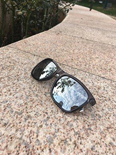 df7c9221a3 wearpro Wayfarer Sunglasses for Men Polarized Vintage Men`s Sun Glasses  WP1003 (silver