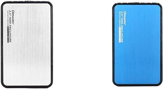 H HILABEE 2ピース/枚/個/枚 2.5 インチSSDハードディスクドライブエンクロージャーUSB - SATA外付けHDDハウジングケース