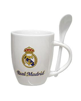 CYP Imports MG-30-RM Taza Porcelana con Cuchara 32.5 cl, diseño Real Madrid, 0, Blanco, 0 cm: Amazon.es: Hogar