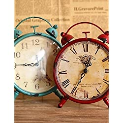 Retro Vintage Metal Paris Eiffel Tower Clock Home Decor Table Clock Ornament