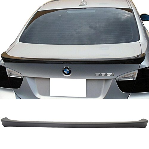 - Trunk Spoiler Fits 2006-2011 BMW E90 3 SERIES | Unpainted ABS Car Exterior Trunk Spoiler Rear Wing Tail Roof Top Lid by IKON MOTORSPORTS | 2007 2008 2009 2010
