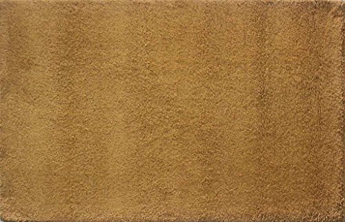 Rugs Mart Ovation Knotted Wool & Wool Blend Gold Berber Rug (4 ft x 6 ft)