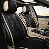 YAOHAOHAO Airbag Luxurious Universal Full set of work the quality of the leather before the rear car seat cover