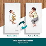 Moonlight Slumber Dual Sided Baby Crib Mattress. Firm Sided For Infants Reverse To