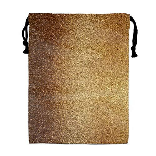 - Glod Paper Printed Drawstring Shoe Pouch travel Lingerie Bag Storage Organizer sack