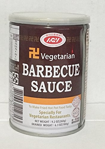 9.2oz AGV Vegetarian Barbecue Sauce, Pack of 1